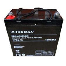 2 X Ultra Max 12V 55Ah AGM Fierté Jazzy 1121 powerchair mobylette Batterie