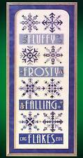 Glendon Place FLAKES Cross Stitch Chart Only ~ winter band sampler