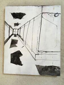 Hallways, Ink Cave Drawing On Board.