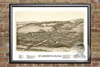 Vintage St. Johnsville, NY Map 1890 - Historic New York Art Victorian Industrial