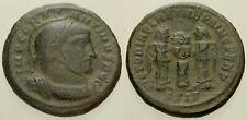 044. Roman Bronze Coin. CONSTANTINE I. Bi Centenionalis. Siscia. 2 Victories