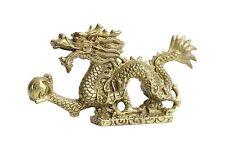 Novelty Bronze Brass Dragon Fire Ball Figurine
