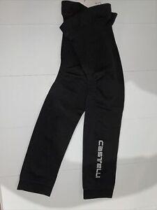 Castelli Cycling BRAND NEW unisex Seamless Leg Warmer Black L/XL