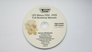 LDV Maxus Workshop Manuals Complete on CD Hi Quality Manuals - Searchable