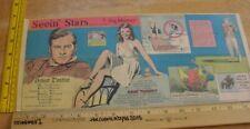 Gene Tierney Helmut Dantine Seein' Stars Feg Murray Sunday 1940s color panel 5h