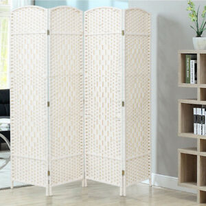 4 Panel Room Divider Privacy Screen Room Partition Paravent Foldable 160 x 170cm