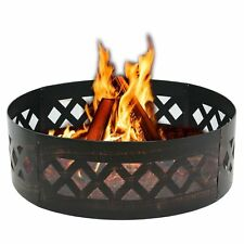 "37"" Dia Heavy Duty Crossweave Campfire Fire Pit Ring For Outdoor Patio Use"