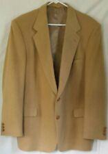 100% Pure Camel Hair Sterling Hunt Mens 2-Button Jacket Blazer Sport Coat Tan