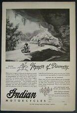 WWII Indian Motorcycle Ad *Voyager of Discovery* 1944