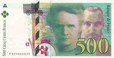 BILLET BANQUE 500 Frs pierre et marie CURIE 1994 SUP 027