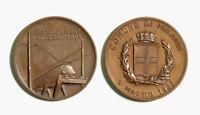 s731_10) Medaglia Comune di Milano 5 Maggio 1968 Inaugurazione Linee Adda