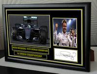 "Nico Rosberg World Champion Signed Tribute Black Framed   ""Great Gift"""