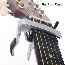 Aluminum Alloy Trigger Quick Change Electric Acoustic Guitar Capo Clamp Silver