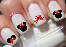Minnie Mouse Red Bow Nail Art Stickers Transfers Decals Set of 66