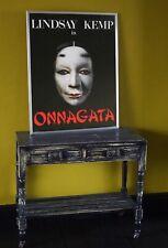 More details for original  large vintage advertising poster onnagata lindsay kemp