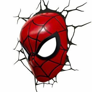 Marvel Spider-Man Mask 3D Wall Night Light Bedroom Lamp - Accessories