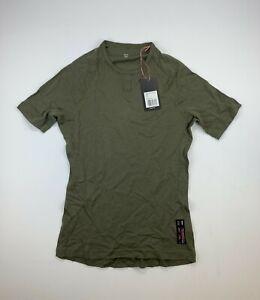 RAPHA Merino Base Layer Short Sleeve Olive Green Size Large New
