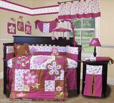 Baby Boutique - Sweet Garden - 14 pcs Crib Nursery Bedding Set incl. Lamp Shade