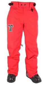 Technine OG Chino Shell Snowboard Pants Men's Size Medium Red New