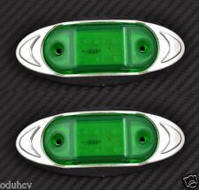 2x 6 LED 12V VERDE lato cromo luci di INGOMBRO PER AUTO SUV PICKUP AUDI VW