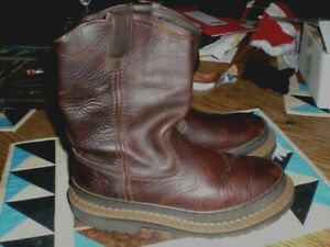 WOMEN'S GEORGIA GIANT HUNTING WORK LEATHER PULL ON BOOTS SIZE 8 M G3204 OIL REST