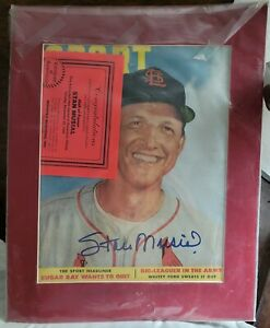 Stan Musial Autographed Signed 11x8.5 picture with certificate of authenticity.