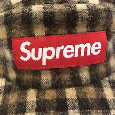 Supreme Wool Plaid Box Logo Red Camp Cap - Brown FW16 Tan New NWOT 2016