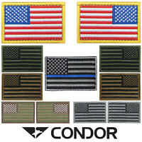 "Condor 230 Hook and Loop Tactical 2"" x 3"" US United States Flag Badge USA Patch"