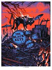 Black Keys Raleigh Nc Poster 2019 Orange Variant Screen Print Signed Ap S/N #/30