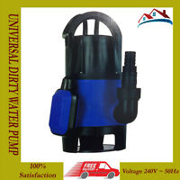 NEW 400W UNIVERSAL CLEAN WATER PUMP SUBMERSIBLE AUTOMATIC ELECTRIC POND PUMPS
