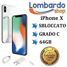 IPHONE X RICONDIZIONATO 64GB GRADO C BIANCO SILVER ORIGINALE APPLE RIGENERATO