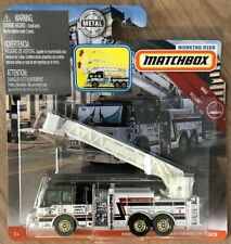 Matchbox 2019 Real Working Rigs. WHITE Pierce Aerial Platform Fire Truck.  GBL02
