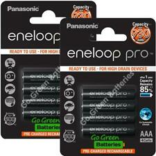 8 x Panasonic Eneloop PRO AAA 930 mAh Rechargeable Batteries Ready To Use HR03