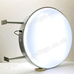71.1cm Double Côté Extérieur Rond Illuminé Caisson Lumineux Signe D70cm LED