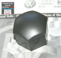 Audi A3 A4 A6 A8 TT Wheel Bolt Nut Plastic Cap Cover  - Silver / Grey