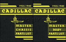 Cadillac and LaSalle Parts Book 1940 1939 1938 1937 1936 1935 Master Catalog