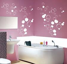 90x Multi Taille Bulles Salle de bain Douche Porte,Vinyl Autocollant Mural
