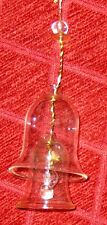 "Clear Glass 4"" Bell inside another Bell"