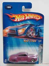 Hot Wheels 2005 Rojo Lines Cola Punto de Arrastre #100