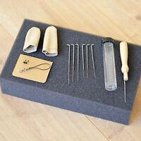 Needle Felting Starter Kit Wool Felt Tools Mat + Needles + Accessories Craft