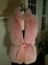 Charles Chang-Lima   PINK FOX FUR VEST – Gorgeous!!! size 10