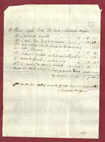 Antico Manoscritto Settecentesco - Conto di Sartoria 1764
