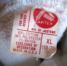 XS Vtg 80s ARTEX TRI-BLEND RAYON Reverse Weave SWEAT SHIRT HEIDELBERG GERMANY