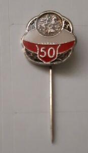 1971 ST GEORGE  RUGBY LEAGUE  CLUB 50 YEARS ANNIVERSARY PIN BADGE