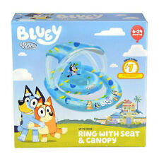 Bluey Baby Float Wahu Pool Ring With Seat & Canopy 6 - 24mths -15kg