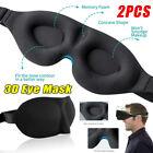 2 Pack Travel 3D Eye Mask Sleep Soft Padded Shade Cover Rest Relax Blindfold USA