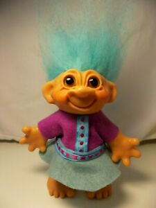 """Excellent 7"""" 1961 Dam Troll, Made in Denmark, not a bank, New outfit"""