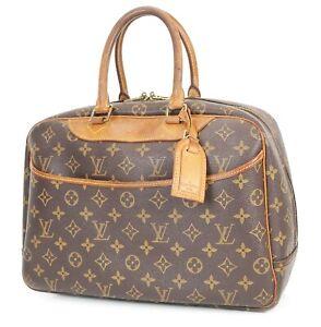1Authentic LOUIS VUITTON Deauville Monogram Hand Bag Purse #38496
