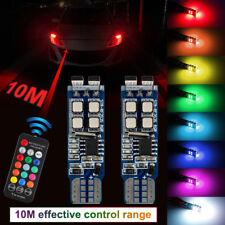2x Canbus T10 W5W 10SMD 5W RGB Car LED Light Wedge Clearance Flash Bulbs Remote