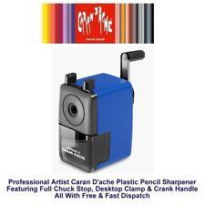 CARAN D'ache Pencil Sharpener With Full Chuck Stop Machine Blue